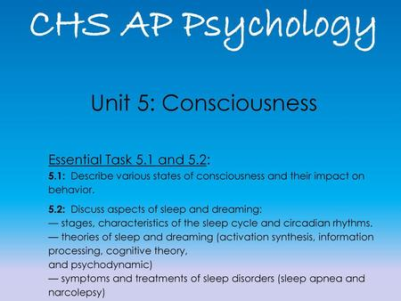 ap psychology activation synthesis theory