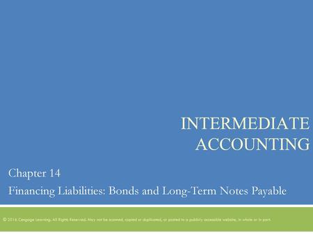 Intermediate Accounting Ppt Download