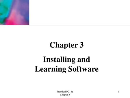 Installing and Learning Software