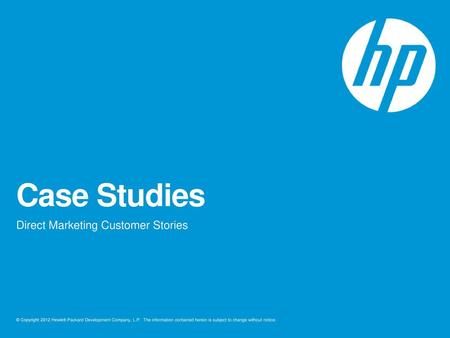 Direct Marketing Customer Stories Ppt Download