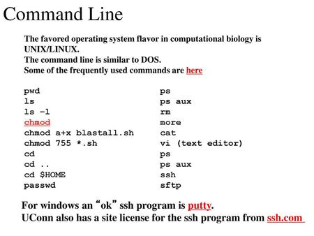 """Command Line For windows an """"ok"""" ssh program is putty  - ppt"""