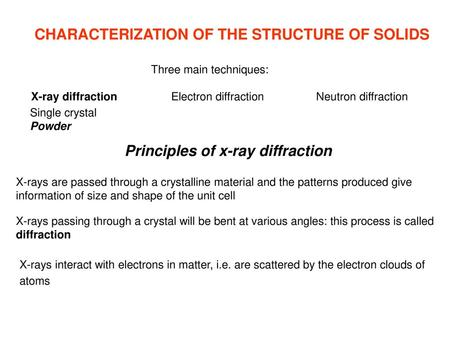 Introduction to X-Ray Powder Diffraction Data Analysis - ppt