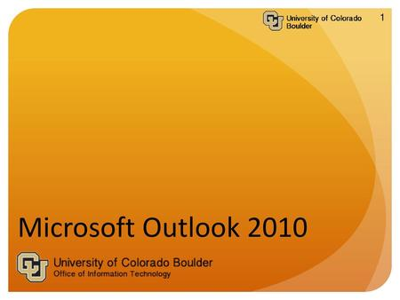 Welcome to the Microsoft Outlook 2010 for Windows Tech Talk