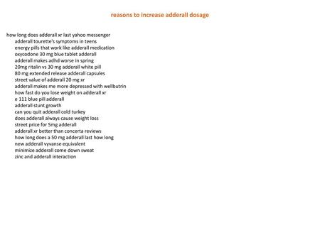 adipex vs adderall high - ppt download