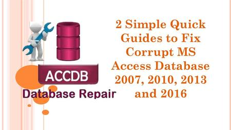 Know About MS Access Database