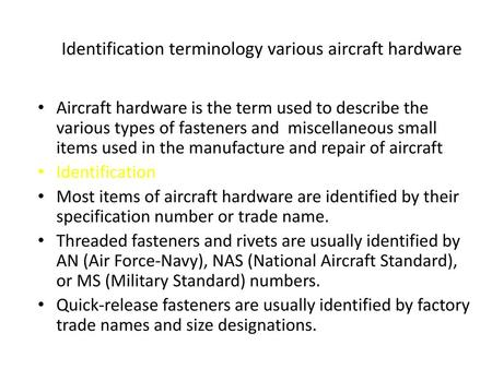 Aerospace Fastener Applications - ppt video online download