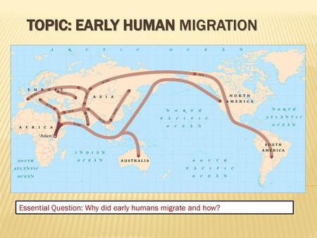 MIGRATION Migration: The act of moving from one place to ...