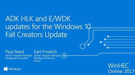 WDK Build Environment Refactoring  Outline Header