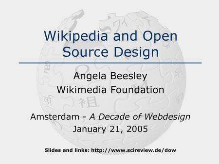 Wikipedia Sociographics Jimmy Wales President, Wikimedia