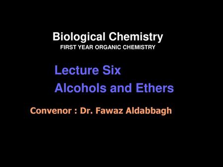 1 Introduction to Organic Chemistry  2 Organic Chemistry