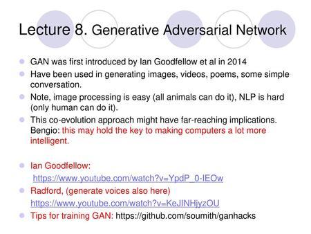 Improving Generative Adversarial Network - ppt download
