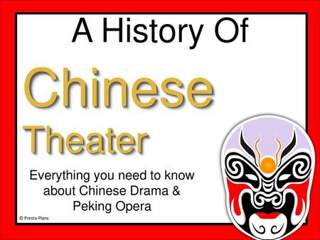 Chinese Opera  - ppt video online download