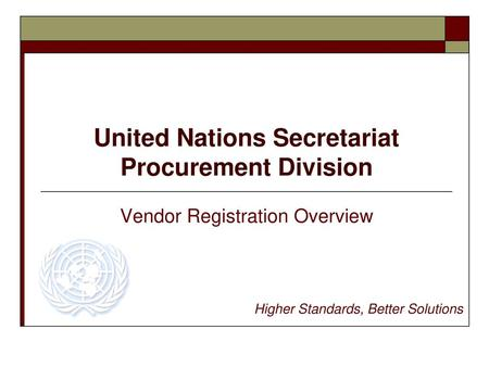Doing business with the United Nations and SHP Procurement