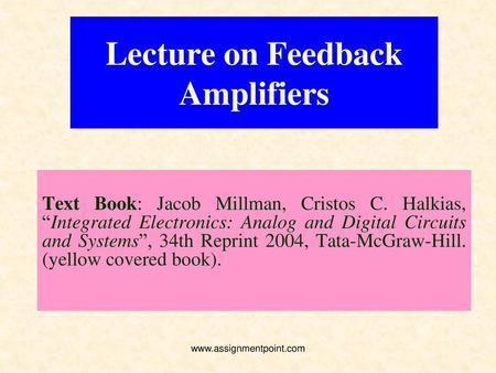 General Characteristics of Negative-Feedback Amplifiers