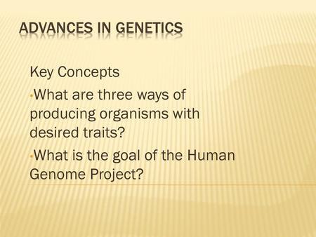 Advances in Genetics: 79