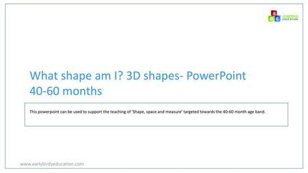 3D shapes  - ppt video online download
