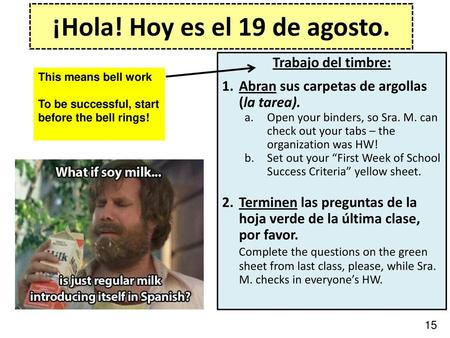 Topic: Cognates 1 Nouns Lesson Objective: I will be able to identify ...