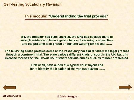Trial on Indictment in the Crown Court - ppt download