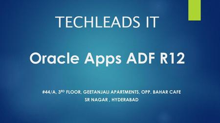 TECHLEADS IT Oracle Apps SCM & MFG - ppt download