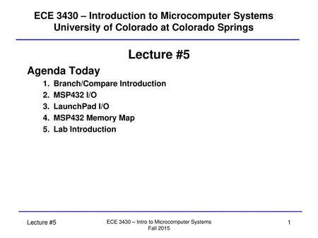 Chapter 2 MSP432 ARM I/O Programming 1  Chapter Review Section 2 1