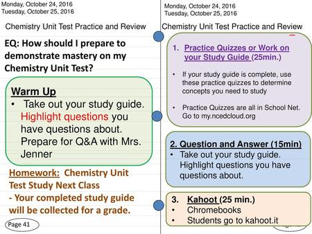 chemistry unit test practice