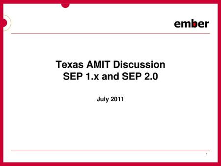 Texas AMIT Discussion SEP 1 x and SEP 2 0