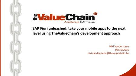 TheValueChain  - ppt download