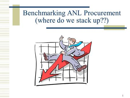 Benchmarking ANL Procurement (where do we stack up??)