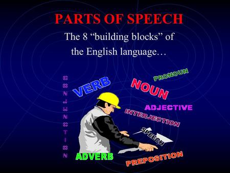 "The 8 ""building blocks"" of the English language…"