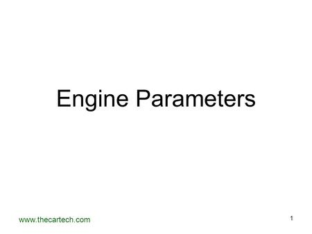 Engine Parameters.