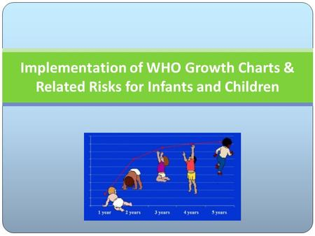 Implementation of WHO Growth Charts & Related Risks for Infants and Children.