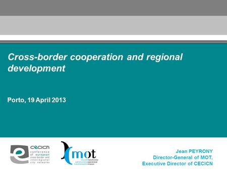 Cross-border cooperation and regional development