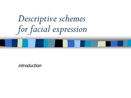 Descriptive schemes for facial expression introduction.