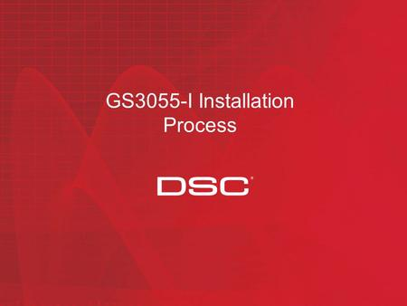 GS3055-I Installation Process