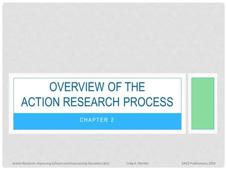 Overview of the action research process