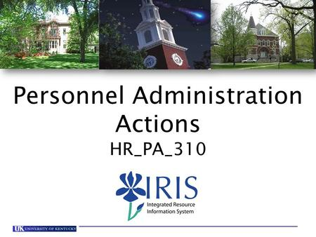 1 HR_PA_310 Personnel Administration Actions - V12 Personnel Administration Actions HR_PA_310.