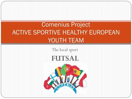 The local sport FUTSAL Comenius Project ACTIVE SPORTIVE HEALTHY EUROPEAN YOUTH TEAM.