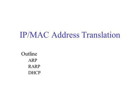 how to find host ip address mac