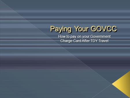 how to pay government travel card online