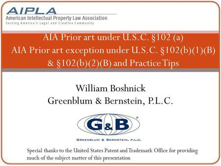 William Boshnick Greenblum & Bernstein, P.L.C.