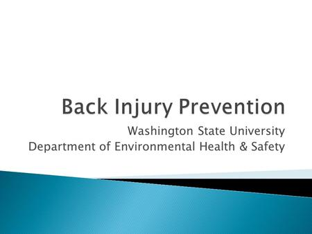 Back Injury Prevention