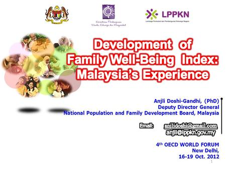 1. To build a set of indicators to measure the well- being of the Malaysian family Mechanism to monitor family well being trends To come up with family.