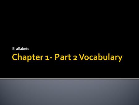 Chapter 1- Part 2 Vocabulary