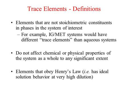 Trace Elements Francis Ppt Video Online Download