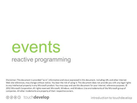 events reactive programming