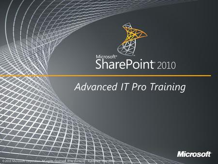 Name Title Company Microsoft SharePoint 2010 The business collaboration platform for the Enterprise and the Web.
