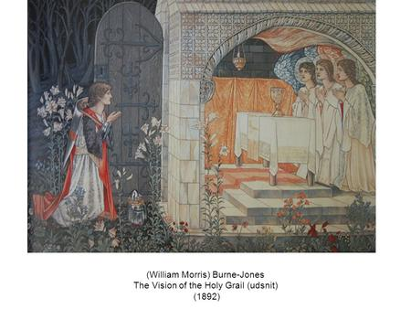 (William Morris) Burne-Jones The Vision of the Holy Grail (udsnit) (1892)