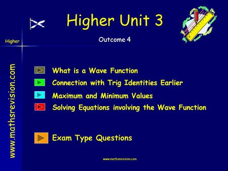 Higher Unit 3 Exam Type Questions What is a Wave Function