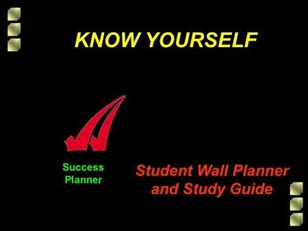 Success Planner KNOW YOURSELF Student Wall Planner and Study Guide.