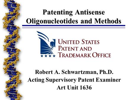 Patenting Antisense Oligonucleotides and Methods